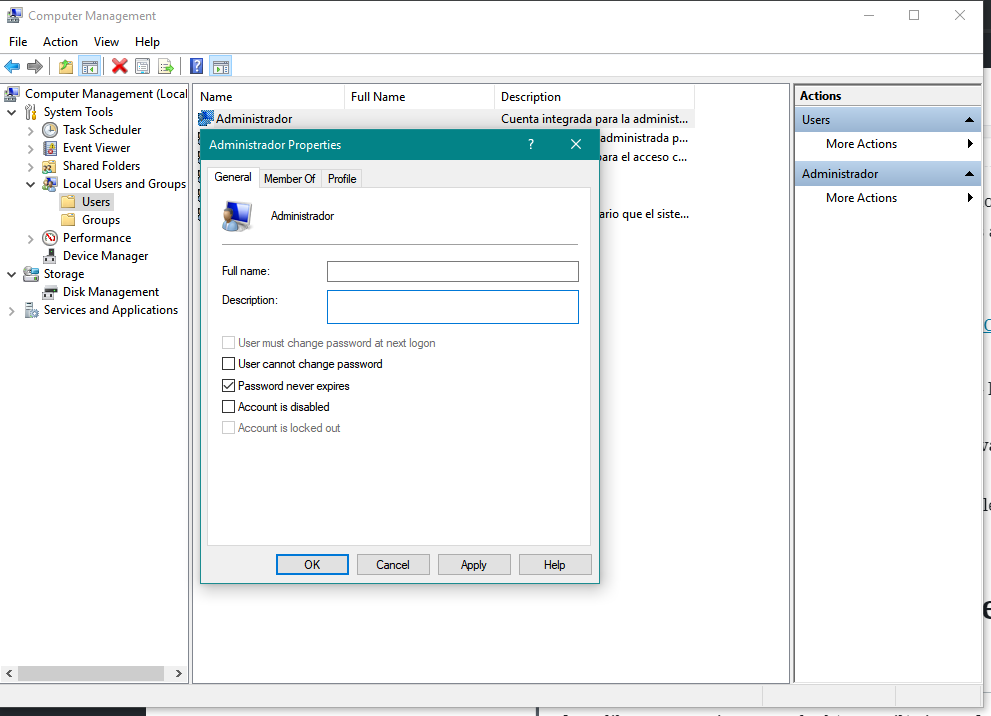 Activate Administrator Account in Windows 10