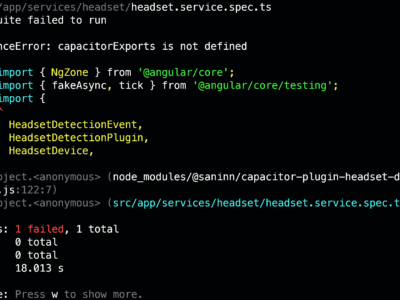 """""""ReferenceError: capacitorExports is not defined"""" while running jest tests in a project with CapacitorJs (fix)"""